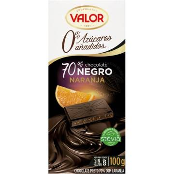 "DARK CHOCOLATE 70% WITH ORANGE NO ADDED SUGAR ""VALOR"""