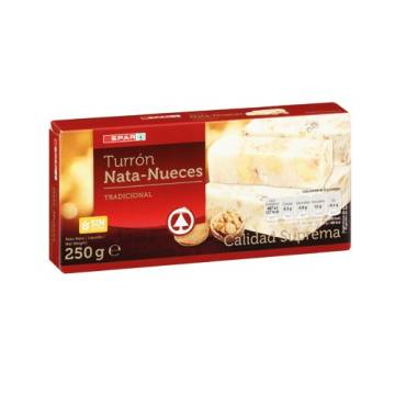 WALNUT-CREAM NOUGAT 250G SPAR