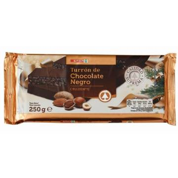 CRUNCHY BLACK CHOCOLATE NOUGAT 250G SPAR