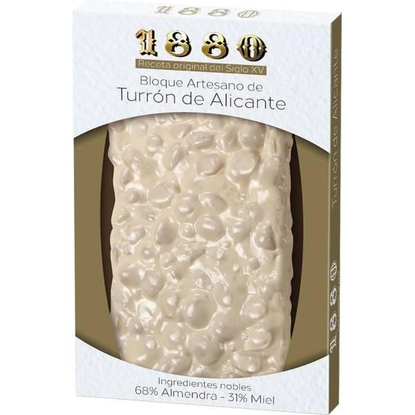 """TURRÓN DURO DE ALICANTE -SIN GLUTEN- """"1880"""" (250 G)"""