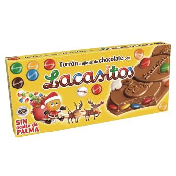 "TURRÓN DE CHOCOLATE CON ""LACASITOS"" (200 G)"
