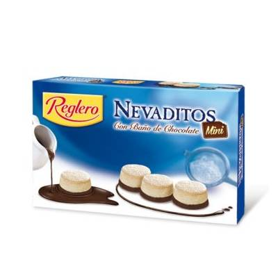 "NEVADITOS ROUNDED PUFF PASTRIES COVERED WITH SUGAR AND CHOCOLATE ""REGLERO"" (500 G)"