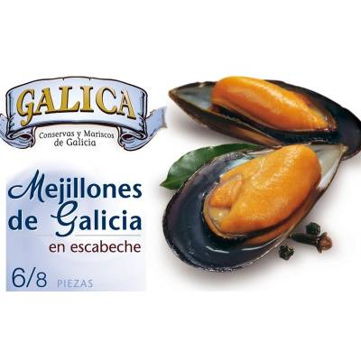 "MUSSELS IN PICKLED SAUCE 6/8 ""GALICA"""