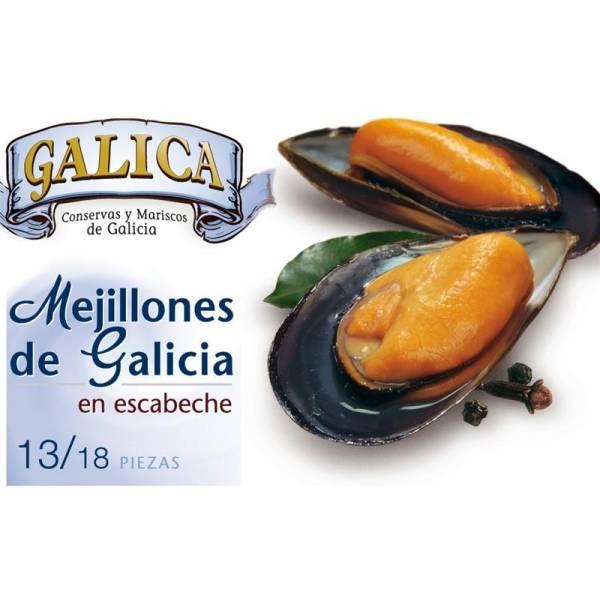 """MEJILLONES DE GALICIA EN ESCABECHE 13/18 """"GALICA"""""""