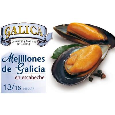 "MUSSELS IN PICKLED SAUCE 13/18 ""GALICA"""