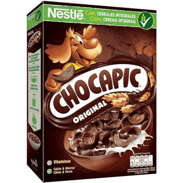 CHOCAPIC CEREALES INTEGRALES CON CHOCOLATE 375G NESTLÉ