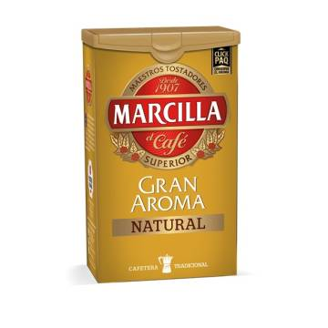 NATURAL ROAST COFFEE GRAN AROMA 250G MARCILLA
