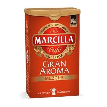 "GROUND MIXED COFFEE GRAN AROMA 250 G ""MARCILLA"""
