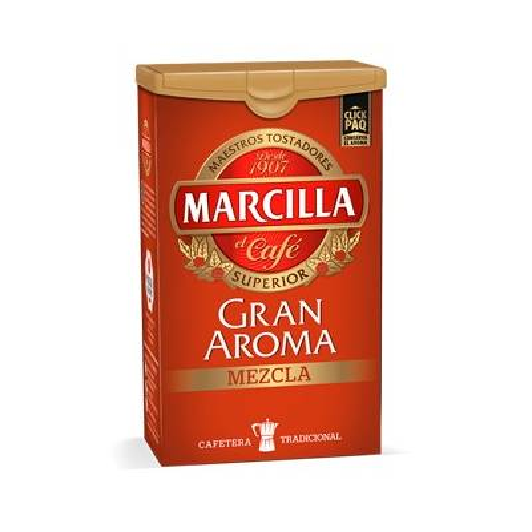 CAFÉ MOLIDO MEZCLA GRAN AROMA 250G MARCILLA