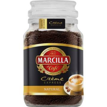"NATURAL INSTANT COFFEE CRÈME EXPRESS 200 G ""MARCILLA"""
