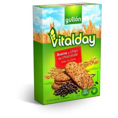 GALLETAS AVENA/CHIP CHOCO GULLON PQTE 240 G
