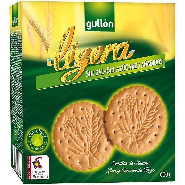 GALLETAS MARIA LIGERA SIN AZUCAR 600 G GULLON