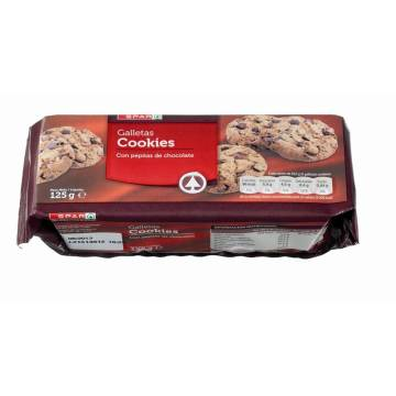 GALLETAS COOKIES CON PEPITAS DE CHOCOLATE SPAR