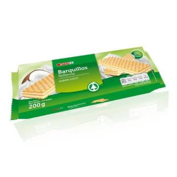 "WAFERS FILLED WITH COCONUT FLAVOR ""SPAR"" (200 G)"