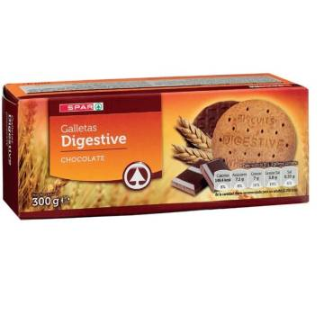 "GALLETAS DIGESTIVE CHOCOLATE ""SPAR"" (300 G)"
