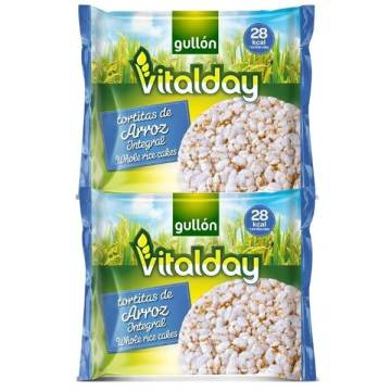 TORTITAS DE ARROZ INTEGRAL VITALDAY GULLON