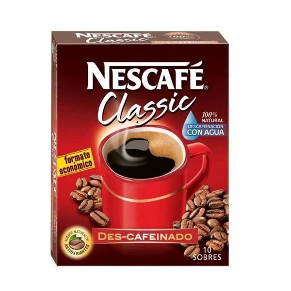 CAFÉ SOLUBLE DESCAFEINADO NECAFÉ CLASSIC 10 SOBRES NESTLÉ