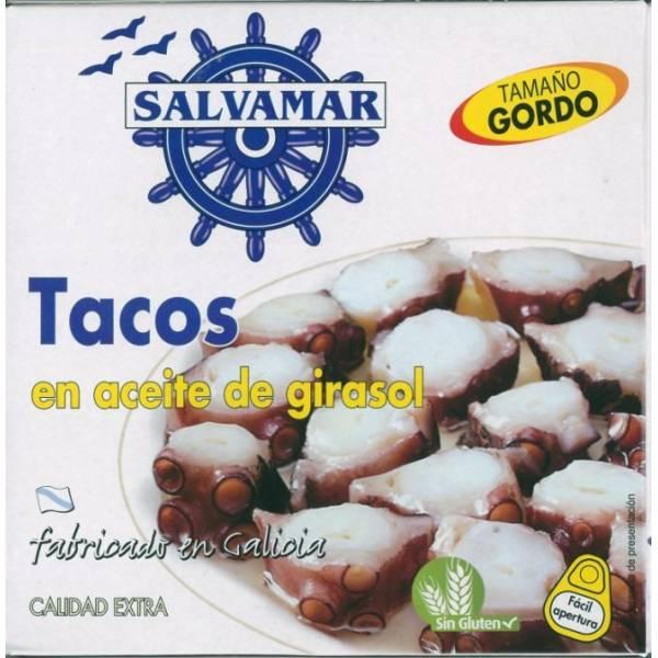 TACOS EN ACEITE DE GIRASOL (SALVAMAR) Fabricado en Galicia