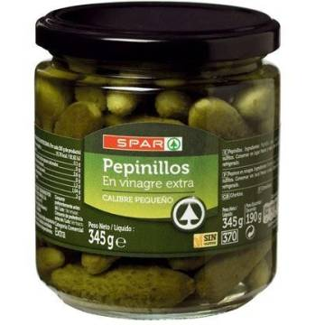 GHERKINS IN VINEGAR 345G SPAR