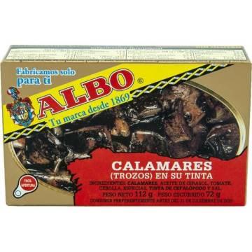 CALAMARES (TROZOS) EN SU TINTA ALBO