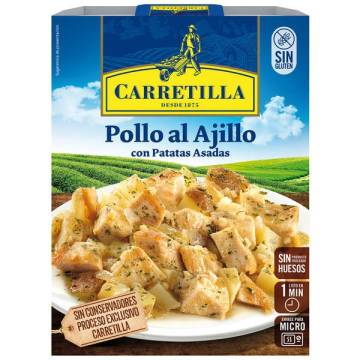 "CHICKEN WITH GARLIC AND ROASTED POTATOES ""CARRETILLA"""