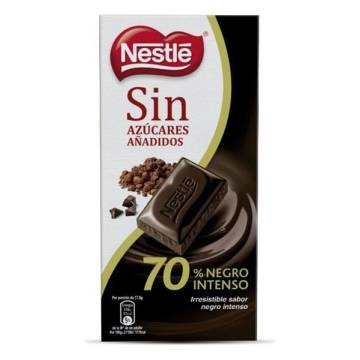 CHOCOLATE NEGRO SIN AZUCAR 70 % NESTLE
