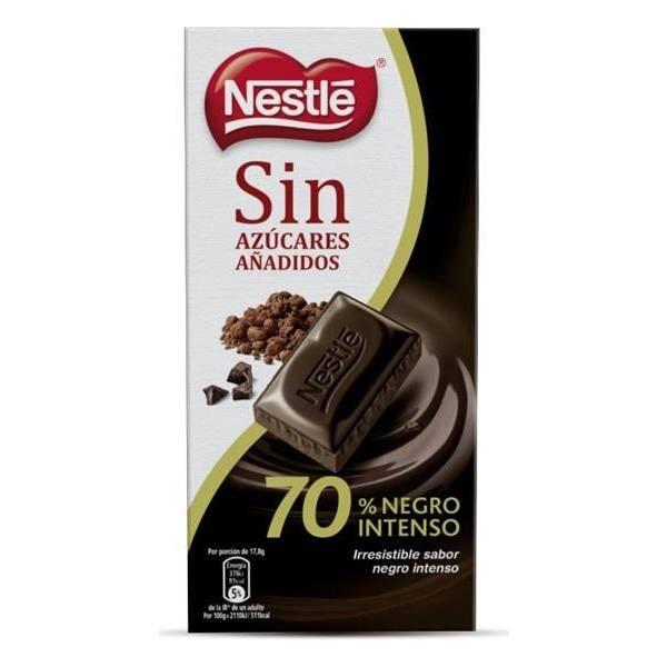 CHOCOLATE NEGRO SIN AZUCAR 70 % NESTLE
