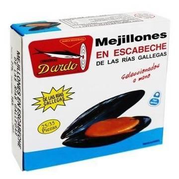 MEJILLONES ESCABECHE 25/35 RIAS GALLEGAS DARDO