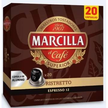 CAFÉ EXPRESSO RISTRETTO 20 CÁPSULAS NESPRESSO MARCILLA