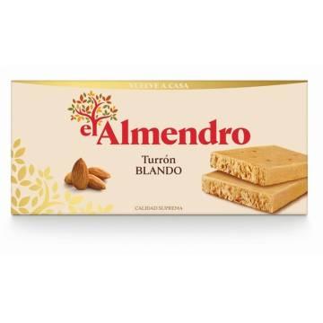 """SOFT ALMOND TURRON -GLUTEN FREE- """"EL ALMENDRO"""" (250 G)"""
