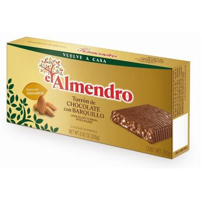 "CHOCOLATE TURRON WITH WAFER ""EL ALMENDRO"" (285 G)"