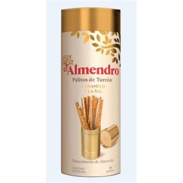 "CARAMELL NOUGAT STICKS WITH SALT ""EL ALMENDRO"""
