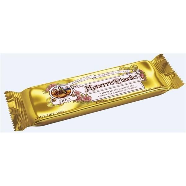 TURRON CHOCOLATE CRUJIENTE MONERRIS 150 G