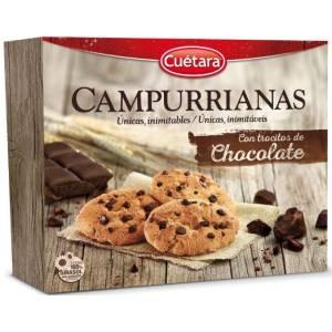 GALELTAS CAMPURRIANAS CON TROCITOS DE CHOCOLATE CUETARA