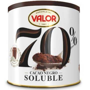 SOLUBLE DARK COCOA 70% CAN 300G VALOR