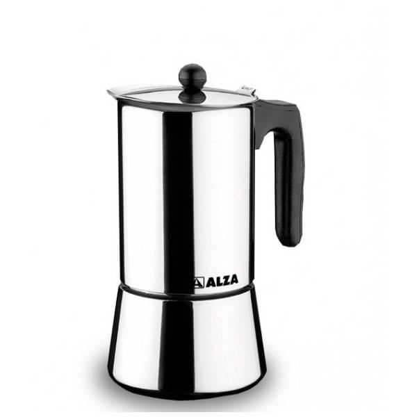 CAFETERA INOX 4 TAZAS ALZA
