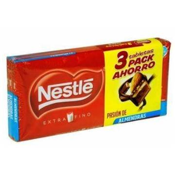 MILK CHOCOLATE WITH ALMONDS OFFER PACK 3 BARS NESTLÉ