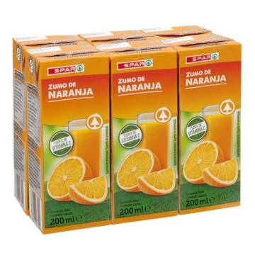 ORANGE JUICE 6X200ML SPAR