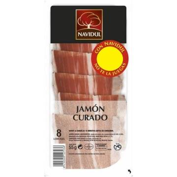 CURED HAM SLICES 55G NAVIDUL