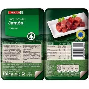 CUBES DE JAMBON 150G SPAR