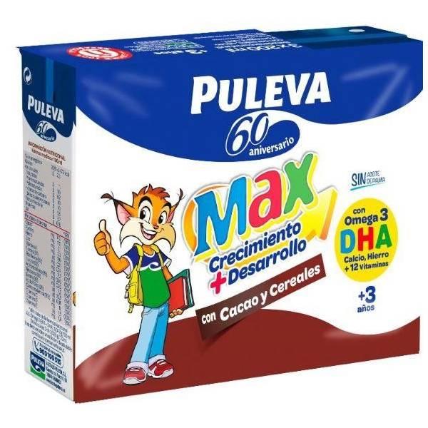 BEBIDA PULEVA MAX CON CACAO Y CEREALES