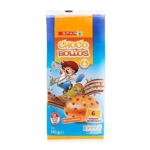 CHOCO BOLLOS CON PEPITA DE CHOCOLATE SPAR