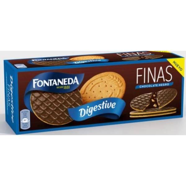 GALLETAS DIGESTIVE FINAS CHOCOLATE NEGRO FONTANEDA