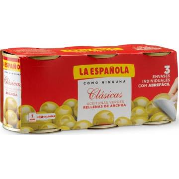 OLIVES STUFFED WITH ANCHOVIES 3x50G LA ESPAÑOLA