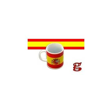 MUG WITH SPANISH FLAG