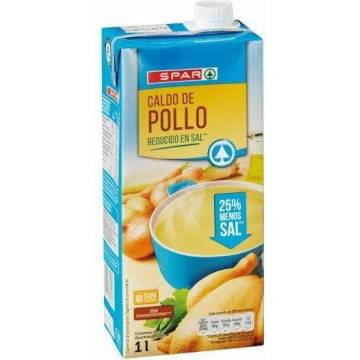 CHICKEN BROTH SALT REDUCED 1L SPAR