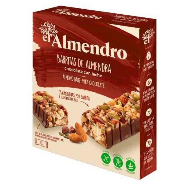 BARRITAS DE ALMENDRA CHOCOLATE CON LECHE