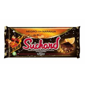 BLACK CHOCOLATE NOUGAT WITH ORANGE SUCHARD 260 G