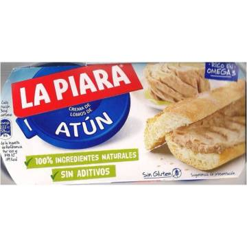 "TUNA PÂTÉ IN OIL 2 x 75 G ""LA PIARA"""