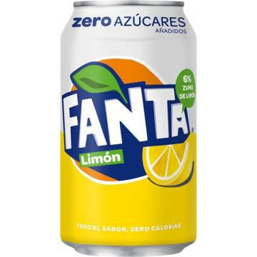 FANTA LEMON ZERO CAN 33CL